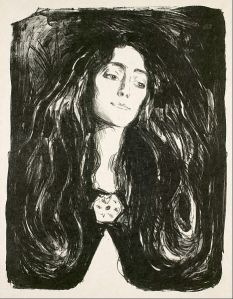 467px-Edvard_Munch_-_The_Brooch._Eva_Mudocci_-_Google_Art_Project