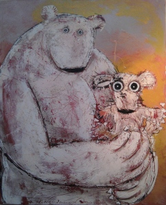 Polar Bear and Dog by Herve Maury