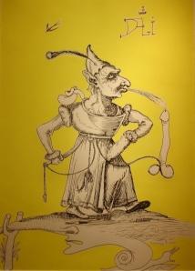 Phallus familiar by Salvador Dalí
