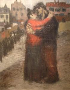 Les amants dans la rue by Pablo Picasso