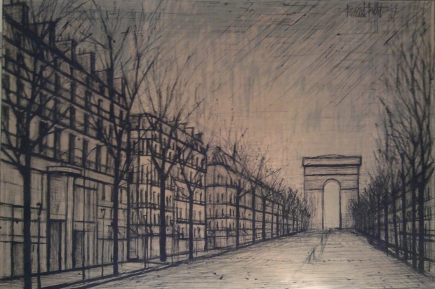 Les Champs Elysees by Bernard Buffet, Screenprint, 1957