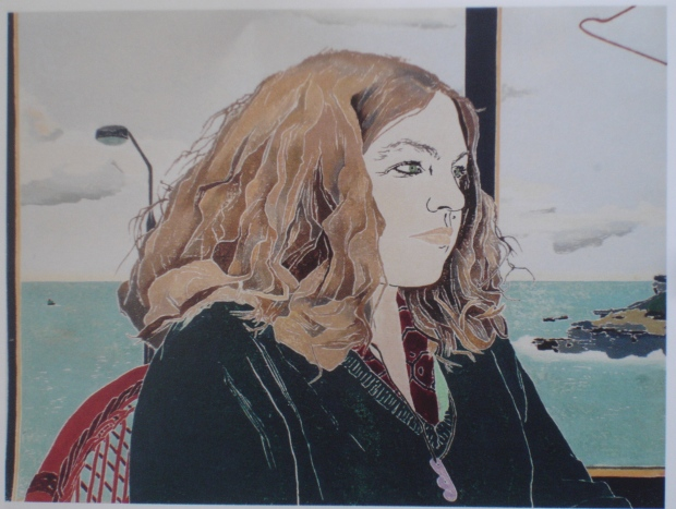 'Alison' by Cressida Campbell Woodcut in colours 1986