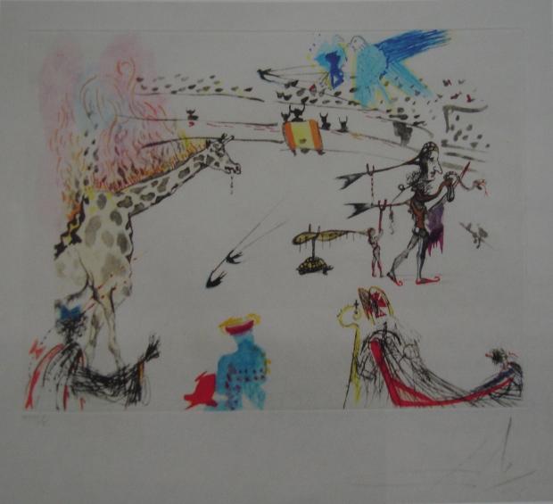 La Giraffe en Feu (Burning Giraffe) heliogravure by Salvador Dali from Tauromachie Surréaliste (1966/67)