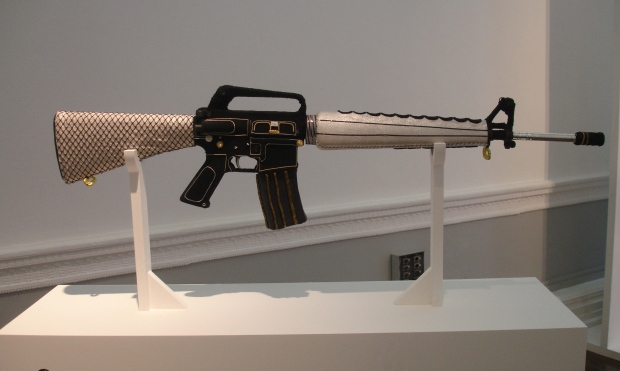 Embroidered Gun by Kim Jones