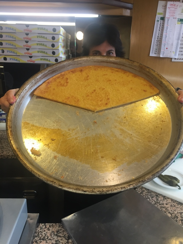 La farinata di ceci at Pizzeria dell'Angelo, Milano