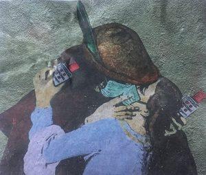 L'Amore ai tempi del Co...vid-19 by street artist Tvboy